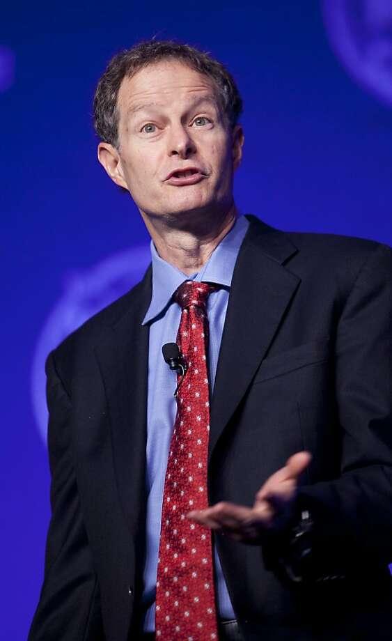 John Mackey will speak Tuesday in San Francisco. Photo: Andrew Harrer, Bloomberg