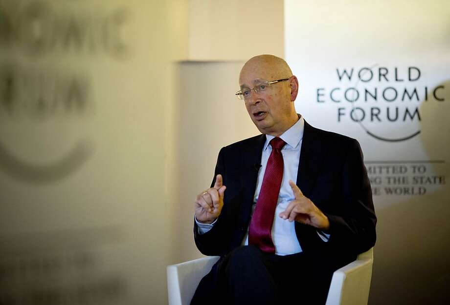 Klaus Schwab, founder of the World Economic Forum, which is meeting in Davos, Switzerland, says problems remain. Photo: Anja Niedringhaus, Associated Press