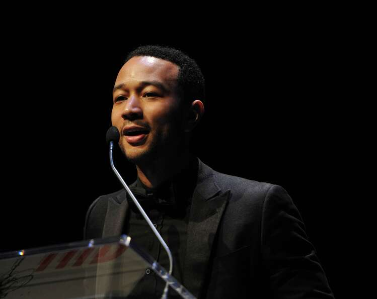 Singer John Legend speaks onstage at The Hip Hop Inaugural Ball II sponsored by Heineken USA at Harm