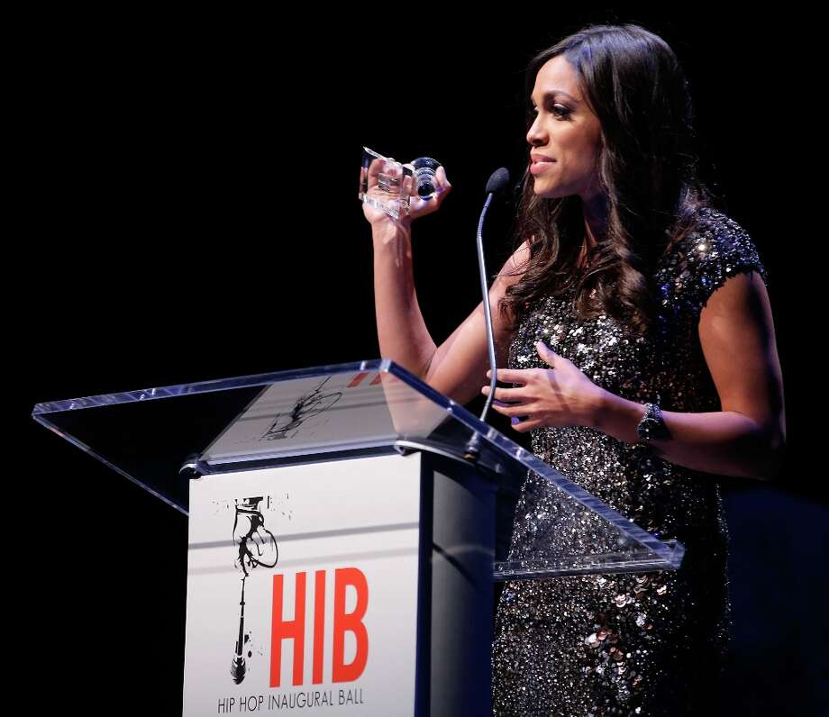Actress Rosario Dawson receives an award on behalf of Voto Latino during The Hip-Hop Inaugural Ball II at Harman Center for the Arts on January 20, 2013 in Washington, DC. Photo: Jemal Countess, Getty Images / 2013 Getty Images