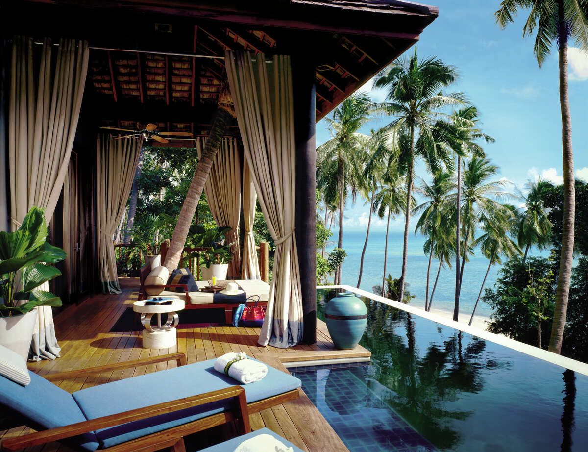 The Four Seasons Koh Samui is designed to be open to the elements, and to the spectacular views.