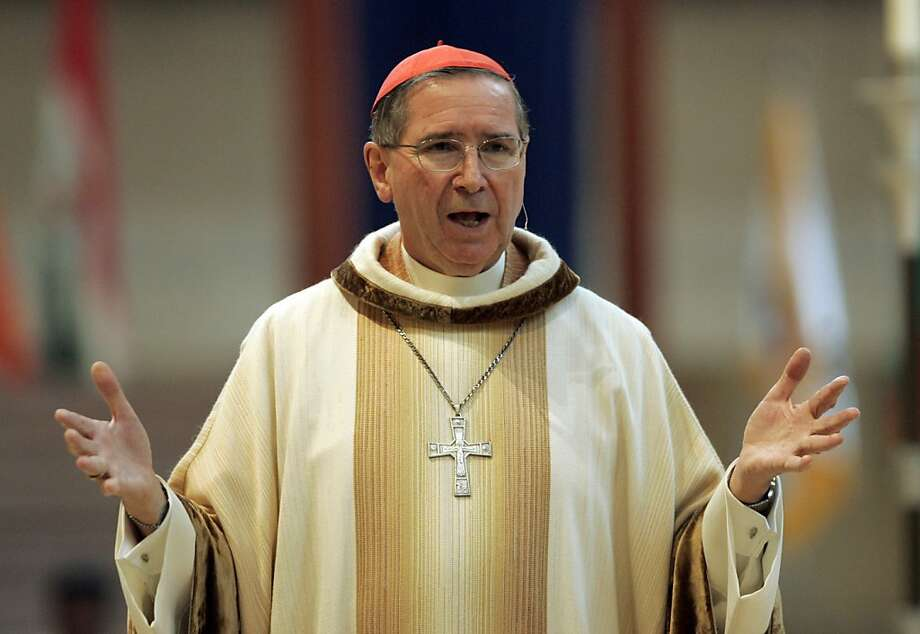 Archbishop Roger Mahony apologized for the 1980s memos. Photo: Reed Saxon, Associated Press