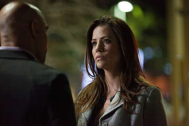 "Julie Gonzalo returns as Rebecca, but who she might be remains unknown for now on ""Dallas."" Photo: Skip Bolen, TNT"