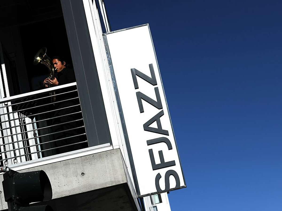 The exterior of the SFJazz Center on Franklin Street, which will soon house a new restaurant named B-Side.