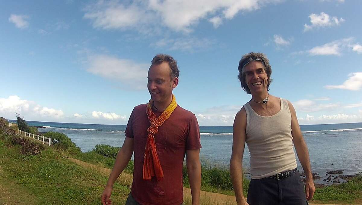 Bay Area residents Adam Griffiths, left, and Brian Baker, on the Hawaiian vacation during which they both died.