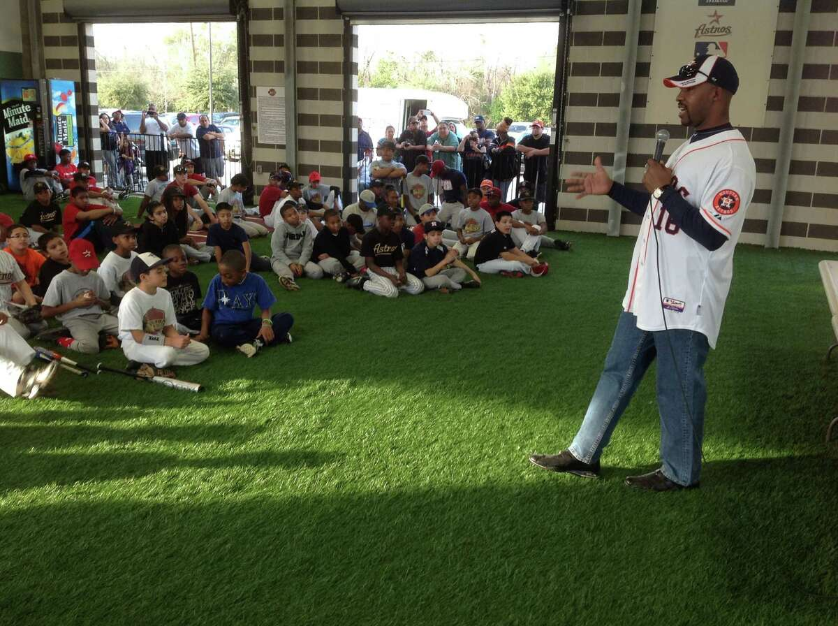 The Astros will be young but not as youthful as the group of players manager Bo Porter addressed Monday.