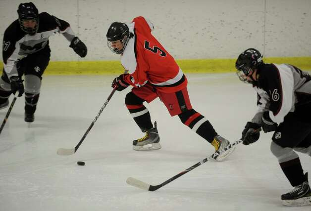 Fairfield v. Milford boys hockey at the Milford Ice Pavilion on Monday, January 21, 2013. Photo: Brian A. Pounds