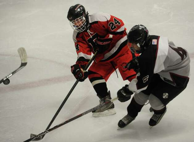 Fairfield's Tim Grace. Fairfield v. Milford boys hockey at the Milford Ice Pavilion on Monday, January 21, 2013. Photo: Brian A. Pounds