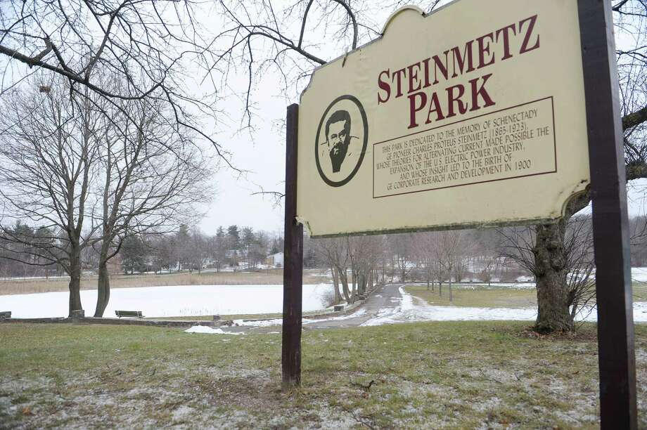 A view of Steinmetz Park on Monday, Jan. 21, 2013 in Schenectady, NY.  The park, which dates back to 1931, will see  $650,000 in improvements this year.  The lake and stone work in the park were done as part of the WPA.    (Paul Buckowski / Times Union) Photo: Paul Buckowski  / 00020843A