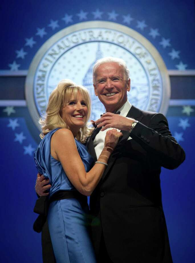 Vice President Joe Biden and his wife Jill Biden dance at the Inaugural Ball. Photo: AP