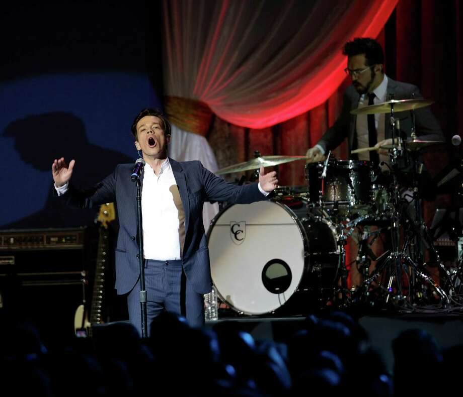 Fun performs during The Inaugural Ball. Photo: AP