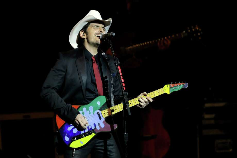 Brad Paisley performs during The Inaugural Ball. Photo: AP