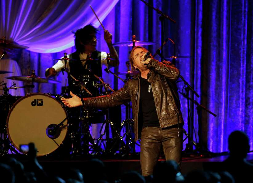 The Mexican pop rock band Maná performs during the Inaugural Ball.