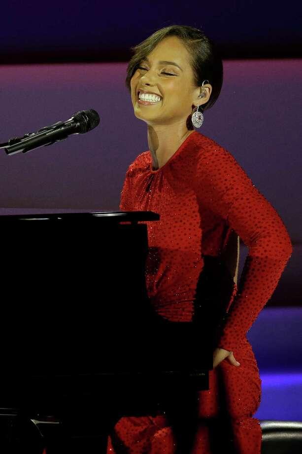 Alica Keys performs during Inaugural Ball. Photo: AP