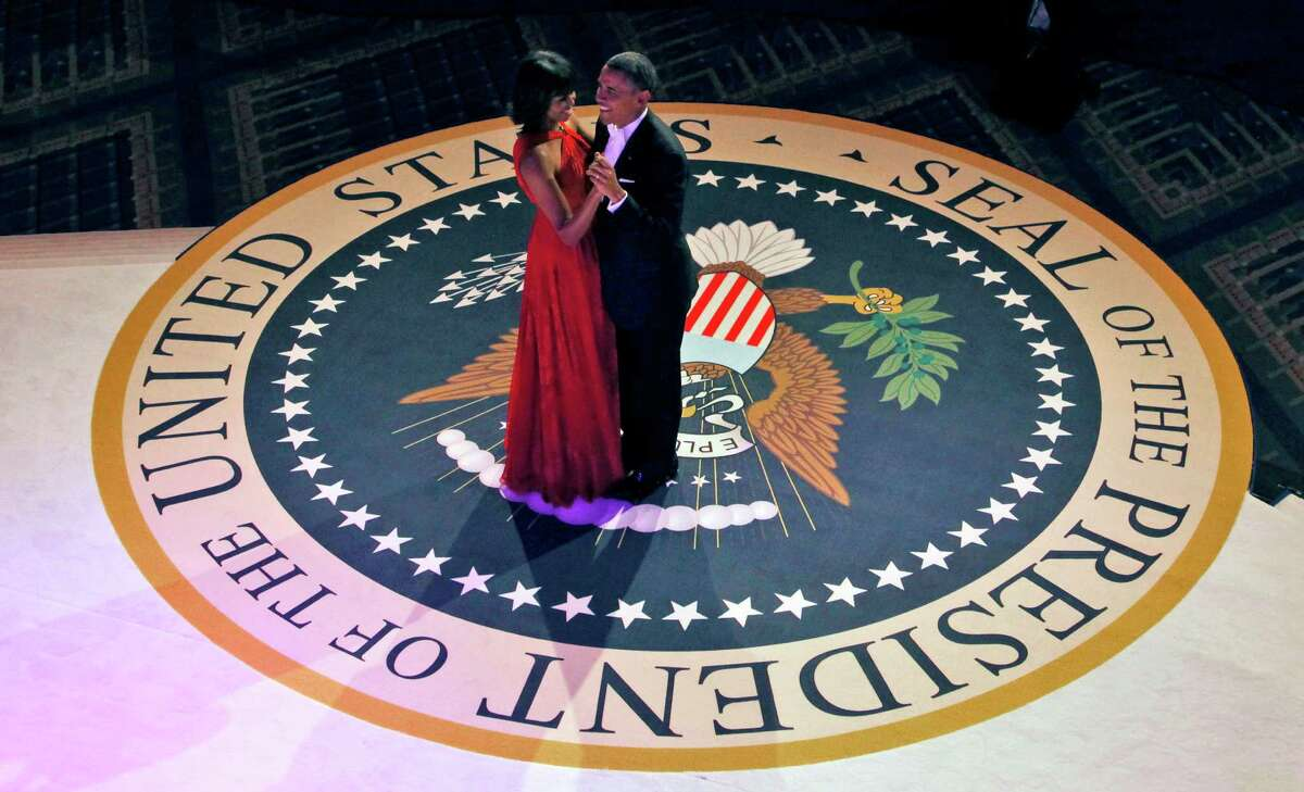 President Barack Obama and first lady Michelle Obama dance at the Commander-in-Chief's Inaugural Ball.
