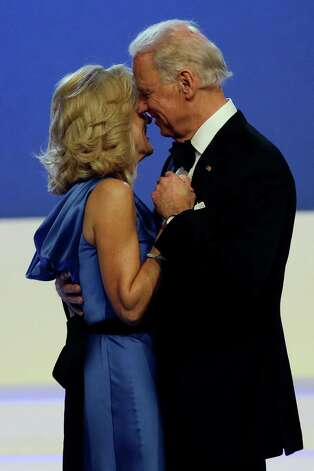 Vice President Joe Biden dances with Jill Biden during The Inaugural Ball. Photo: AP