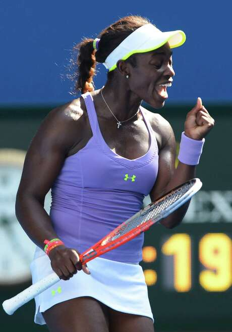 Sloane Stephens has moved into the quarterfinals of a Grand Slam event for the first time. Photo: WILLIAM WEST, Staff / WILLIAM WEST