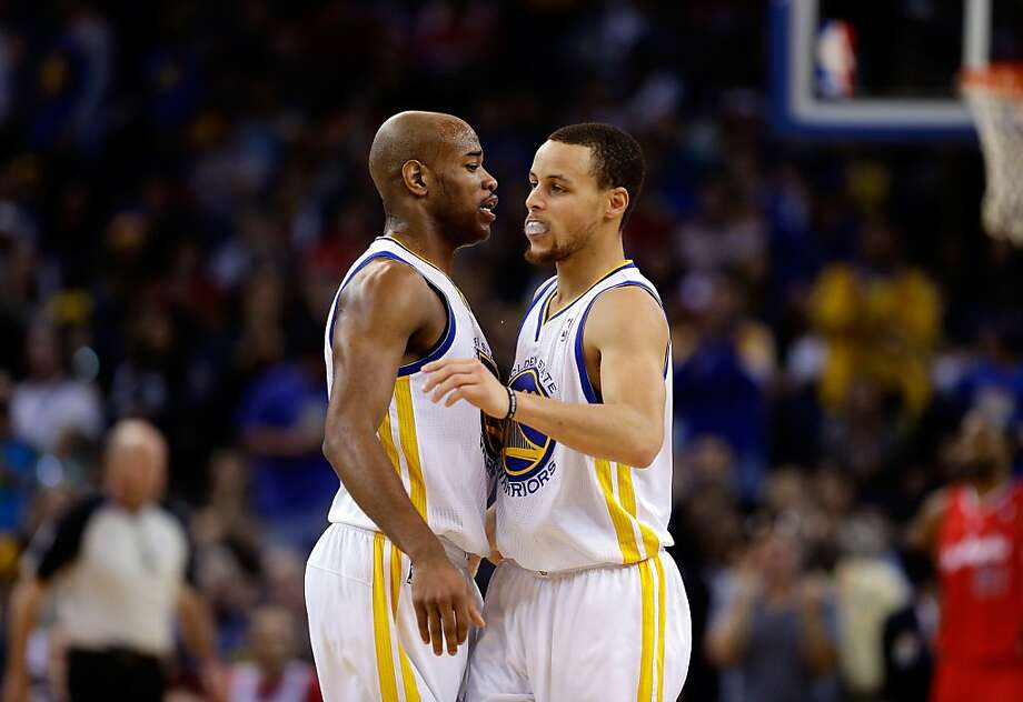 OAKLAND, CA - JANUARY 21:  Stephen Curry #30 of the Golden State Warriors is congratulated by Jarrett Jack #2 after making a basket against the Los Angeles Clippers at Oracle Arena on January 21, 2013 in Oakland, California. NOTE TO USER: User expressly acknowledges and agrees that, by downloading and or using this photograph, User is consenting to the terms and conditions of the Getty Images License Agreement.  (Photo by Ezra Shaw/Getty Images) Photo: Ezra Shaw, Getty Images