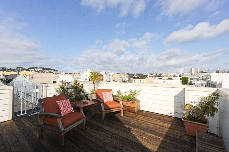 Hold soirees for other up-and-coming hipsters on your rooftop deck.