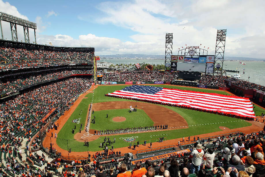 AT&T Park. S.F. basically copied Baltimore's, but with a water view. Winner: S.F. Notice we're not doing this for football stadiums. Photo: Ezra Shaw, Getty Images / 2012 Getty Images