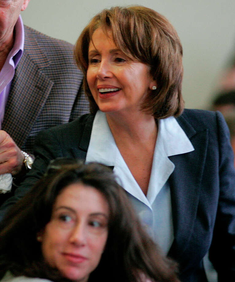 Nancy Pelosi, who happens to be Old Tommy's daughter. Which makes her Young Tommy's sister.  Winner: Democrats always win in both places. Photo: Michael Macor, SFC / San Francisco Chronicle