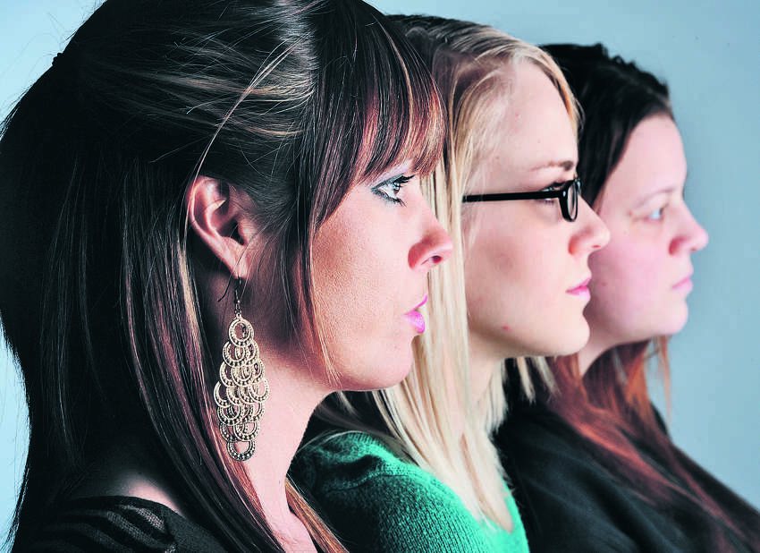 From left, Hollie Toups, 32, Marianna Taschinger, 22, and Kelly Hinson, 27, are among more than 20 Southeast Texan women to join in a class action lawsuit against a 'revenge porn' website that allows anonymous users to post intimate pictures of the women without their consent. Photo taken Friday, January 18, 2013 Guiseppe Barranco/The Enterprise