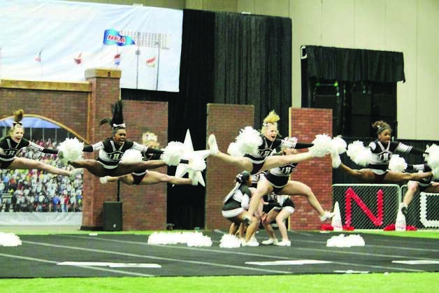 Jasper High cheerleaders at Nationals. Photo: Courtesy Photo