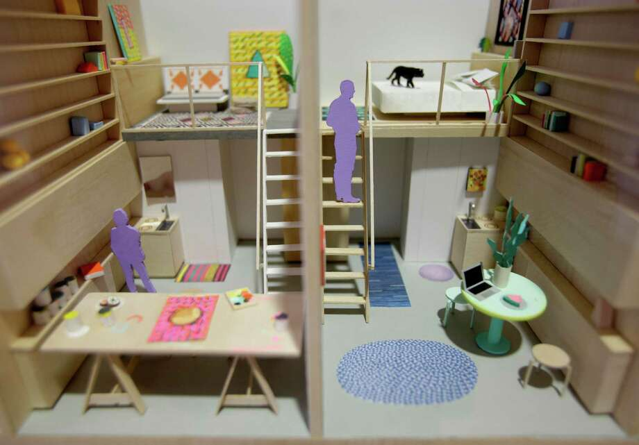 "A model of micro-apartments are displayed at an exhibit called ""Making Room: Models for Housing New Yorkers"" at the Museum of the City of New York in New York, Tuesday, Jan. 15, 2013. The exhibit grew out of the city's PlaNYC, which projected the city's population  will grow by about  600,000 people by 2030. Photo: Seth Wenig, AP / AP"