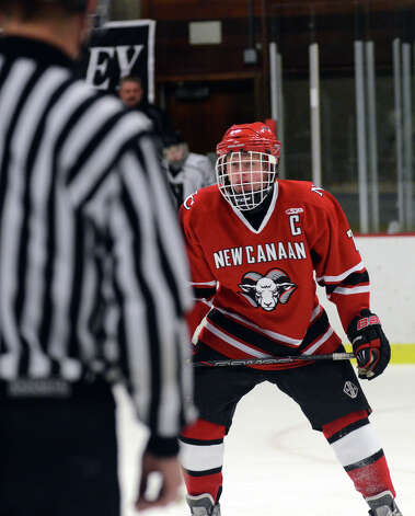 New Canaan's Benjamin Patch (7) on the ice during the boys hockey game against Xavier at the Freeman Athletic Center in Middletown on Monday, Jan. 21, 2013. Photo: Amy Mortensen / Connecticut Post Freelance
