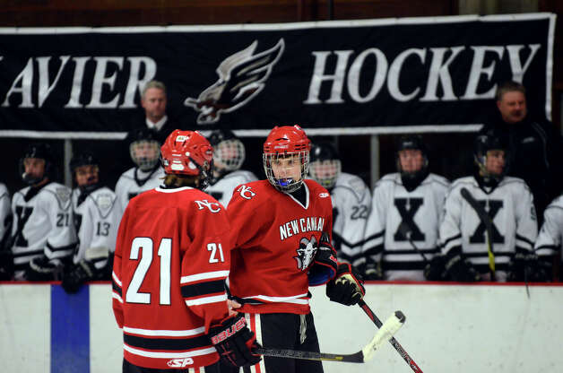 New Canaan vs. Xavier boys hockey game at the Freeman Athletic Center in Middletown on Monday, Jan. 21, 2013. Photo: Amy Mortensen / Connecticut Post Freelance