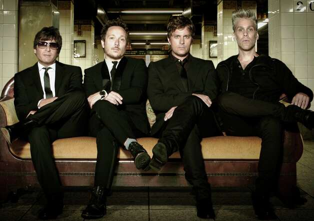 "Matchbox Twenty (from left) Brian Yale, Paul Doucette, Rob Thomas, Kyle Cook. They'll be at the Majestic on Wednesday; ""American Idol"" Phillip Phillips opens. Courtesy photo Photo: Courtesy Photo"