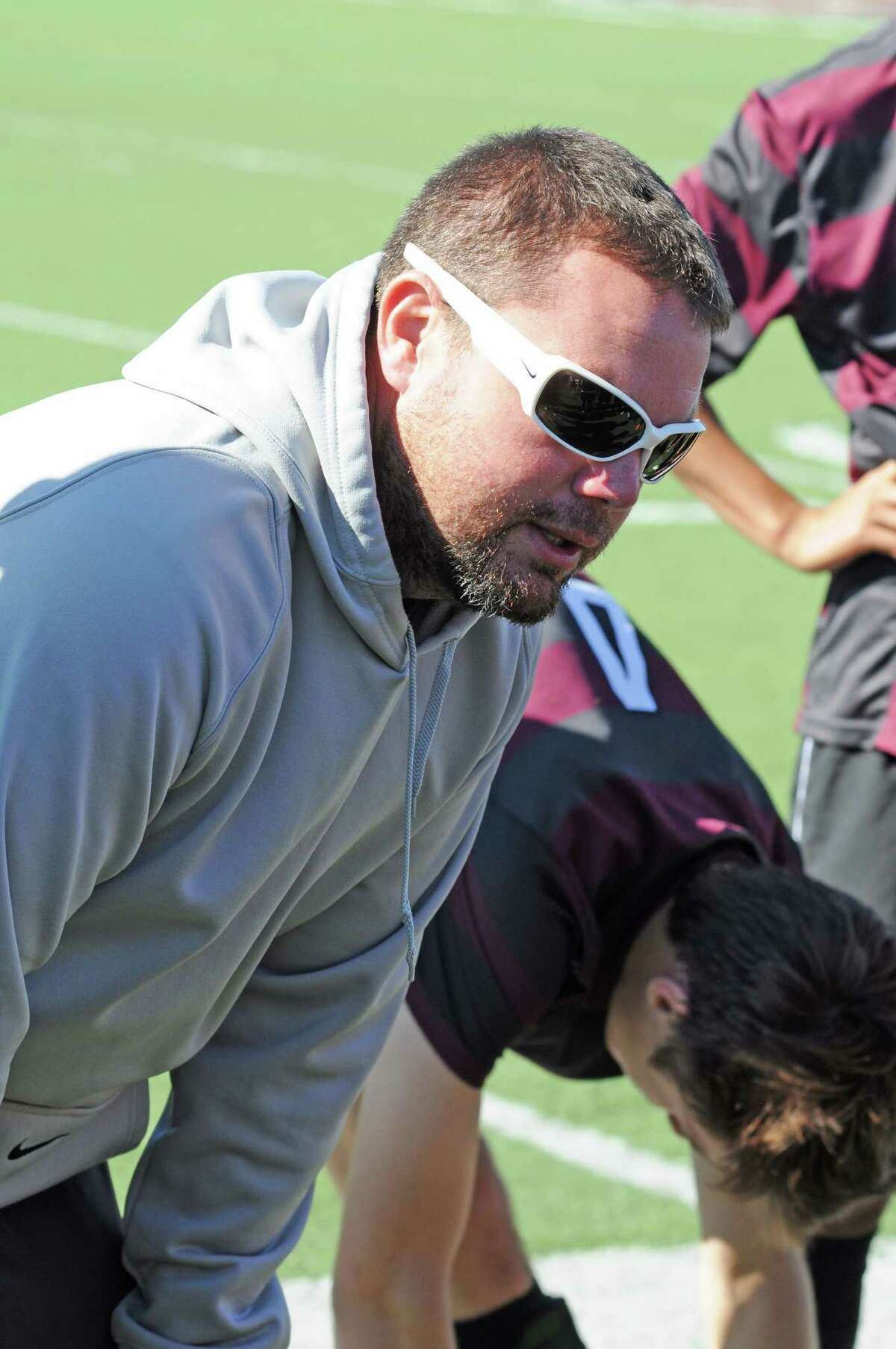 Pearland boys soccer head coach Tom Jones is in his seventh season with the Oilers in 2013. Pearland boys soccer defeated Elkins 2-0 during the Pasadena ISD Tournament on 1-19-13 in a match played at The Rig in Pearland.