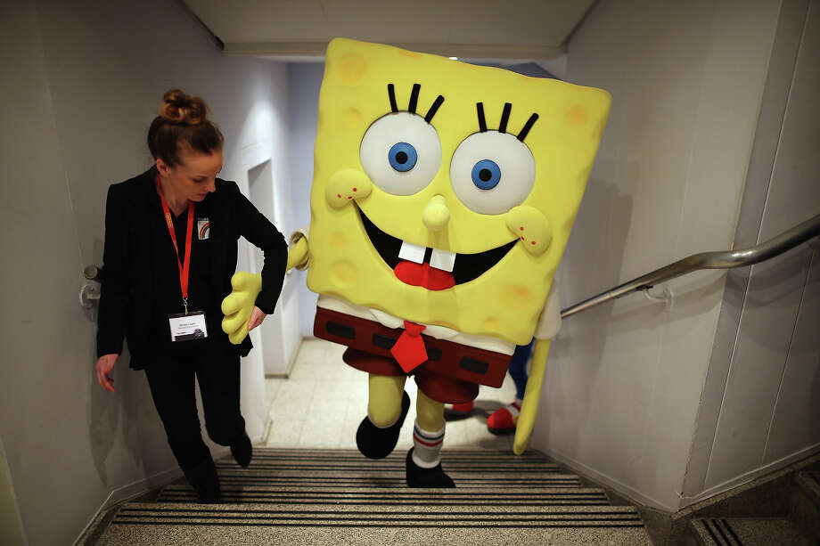 The London Toy Fair is a pretty good leading indicator of what you will be buying your kids for Christmas. Take a peek at what the toymakers are pitching this year:A Sponge Bob Square Pants character is helped up a flight of stairs  during the 2013 London Toy Fair at Olympia Exhibition Centre on January 22, 2013 in London, England. The annual fair which is organized by the British Toy and Hobby Association, brings together toy manufacturers and retailers from around the world. Photo: Dan Kitwood, Getty Images / 2013 Getty Images