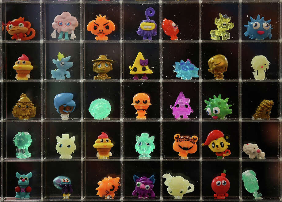 A display of Moshi Monsters characters are displayed  during the 2013 London Toy Fair at Olympia Exhibition Centre on January 22, 2013 in London, England. The annual fair which is organized by the British Toy and Hobby Association, brings together toy manufacturers and retailers from around the world. Photo: Dan Kitwood, Getty Images / 2013 Getty Images