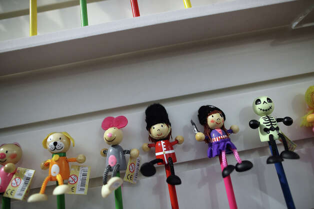 Toys are displayed on a trade stand during the 2013 London Toy Fair at Olympia Exhibition Centre on January 22, 2013 in London, England. The annual fair which is organized by the British Toy and Hobby Association, brings together toy manufacturers and retailers from around the world. Photo: Dan Kitwood, Getty Images / 2013 Getty Images