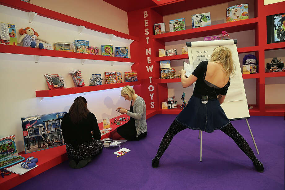A trade stand is prepared for a demonstration during the 2013 London Toy Fair at Olympia Exhibition Centre on January 22, 2013 in London, England. The annual fair which is organized by the British Toy and Hobby Association, brings together toy manufacturers and retailers from around the world. Photo: Dan Kitwood, Getty Images / 2013 Getty Images