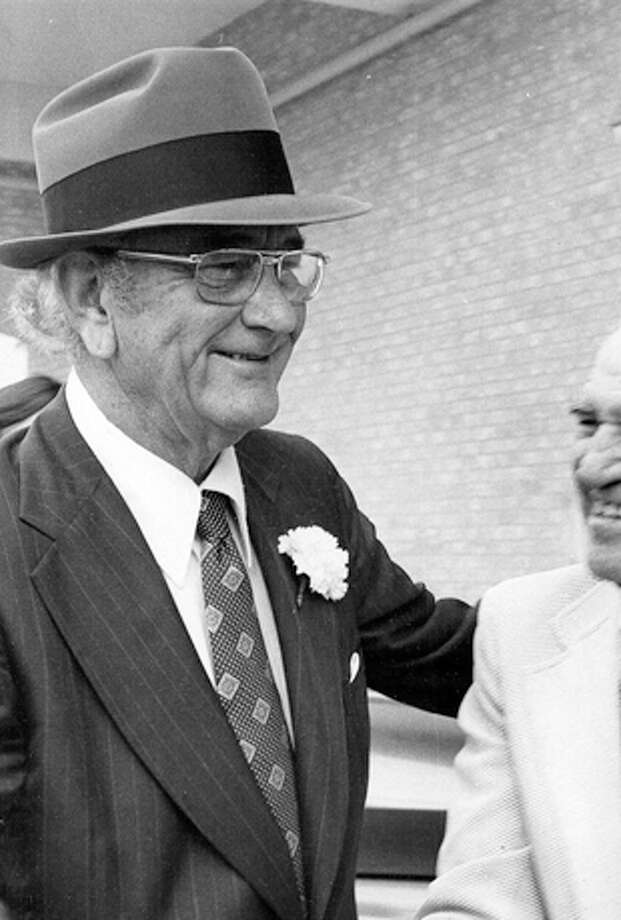 Lyndon Johnson visited San Antonio on January 16, 1973, less than a week before he died. Photo: Express-News File Photo