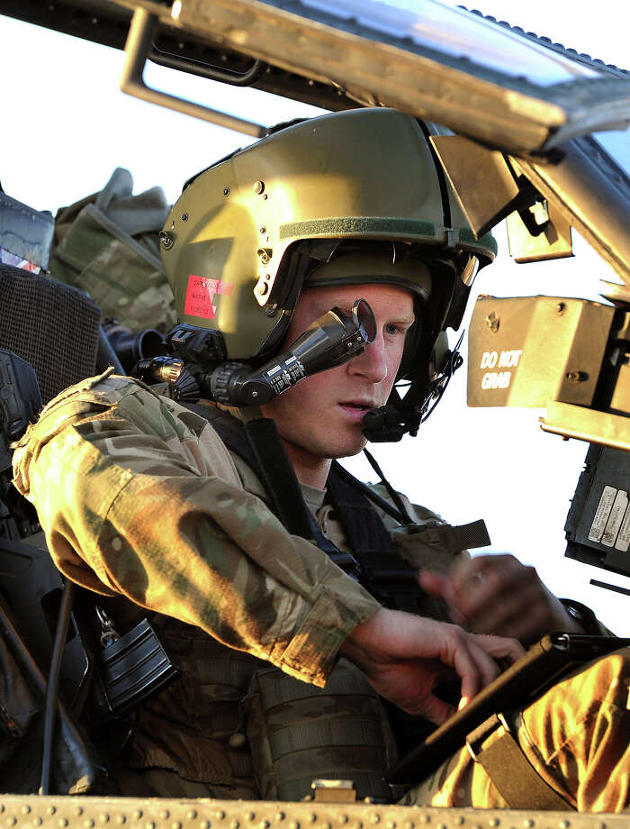 Prince Harry  wears his monocle gun sight as he sits in the front seat of his cockpit where he has served as an Apache Helicopter Pilot/Gunner with 662 Sqd Army Air Corps at the British controlled flight-line in Camp Bastion on November 02, 2012 in Afghanistan, from September 2012 for four months until January 2013. Photo: WPA Pool, Getty Images / 2012 Getty Images