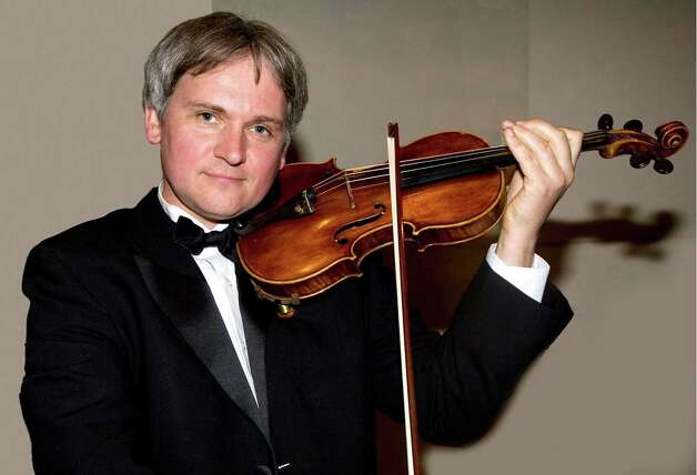 "For its Jan. 26 and 27 concerts, the Greenwich Symphony Orchestra will feature four soloists, each a first chair. The ensemble will include Krystof Witek, violin, pictured; Diane Lesser, oboe; Mark Davies, bassoon; and Daniel Miller, cello. They willl play Haydn's ""Sinfonia Concertante"" along with the orchestra. Photo: Contributed Photo"