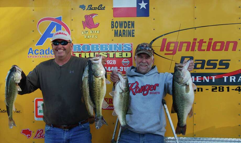 Randy Despino and Kevin Lasyone pulled out all the stops catching a 28.44 lb limit winning 1st place, plus Big Bass honors with their 9.17 lb kicker.  Photo by Patty Lenderman, Lakecaster