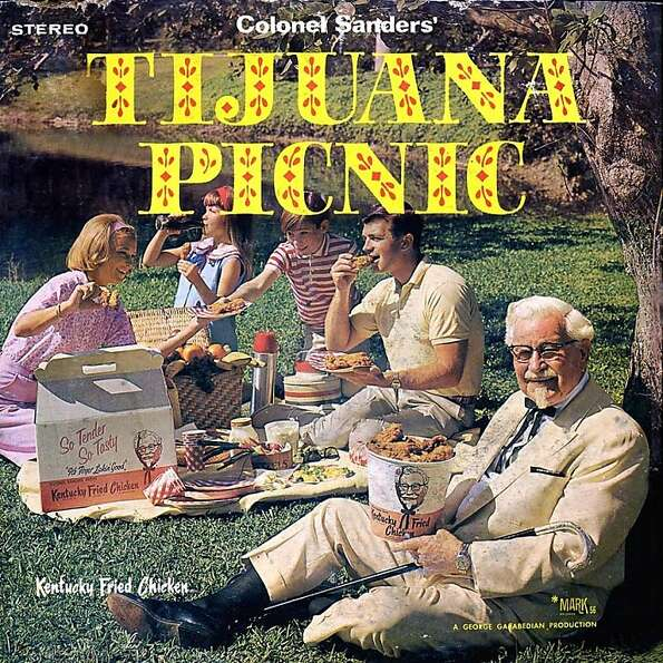 The LP album cover of 'Colonel Sanders' Tijuana Picnic'