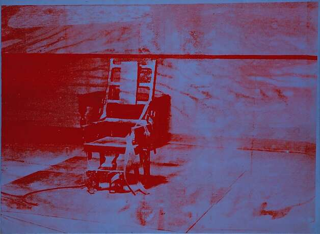 "Andy Warhol's 1967 ""Big Electric Chair"" conjures an ultimate mortal stillness with ghostly images of electric chairs.  Artists Rights Society (ARS) Photo: Hickey-Robertson, Houston"