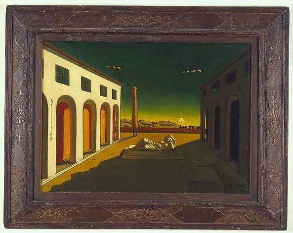 "Giorgio de Chirico's ""Melancholia"" is a 1916 Surrealist painting that evokes a feeling of quiet. Photo: Hickey-Robertson, Houston"
