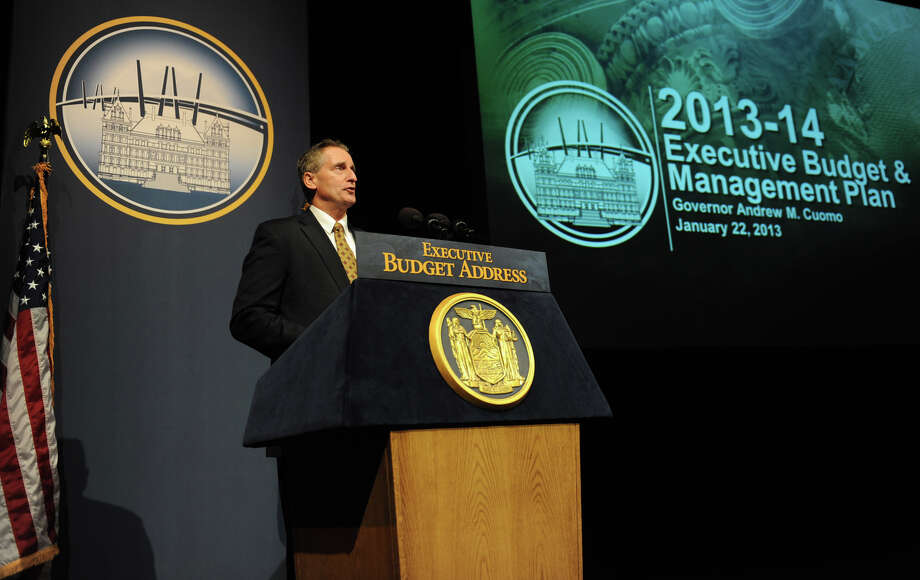 Lt. Gov. Robert Duffy speaks before Gov. Andrew Cuomo delivers his budget proposal for fiscal year 2013-14 in the Hart Theater in The Egg on Tuesday Jan. 22, 2013 in Albany, N.Y.  (Lori Van Buren / Times Union) Photo: Lori Van Buren