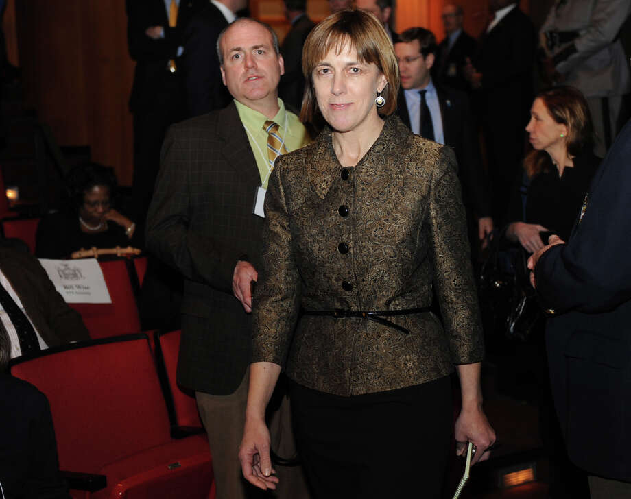 Senator-elect Cecilia Tkaczyk enters The Hart Theater before Governor  Andrew Cuomo delivers his budget proposal for fiscal year 2013-14 in The Egg on Tuesday Jan. 22, 2013 in Albany, N.Y.  (Lori Van Buren / Times Union) Photo: Lori Van Buren