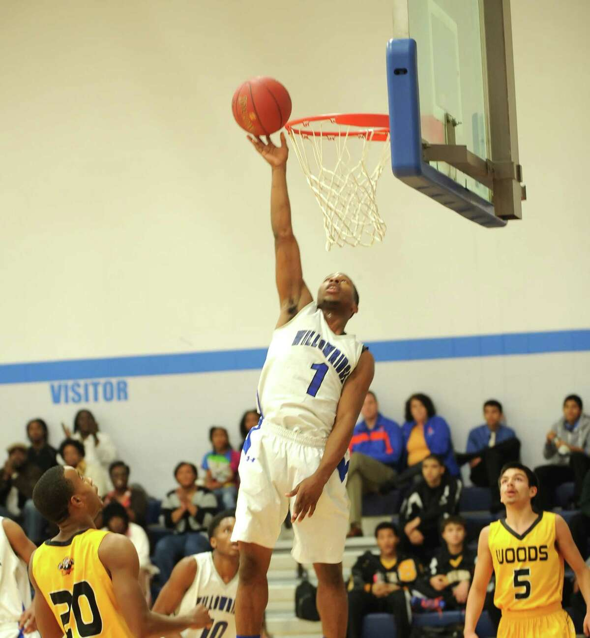 Willowridge forward Micheal Hunter has locked down the paint for the Eagles this season.