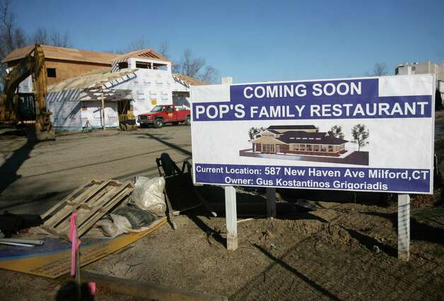 The new Pop's Family Restaurant is under construction on Old Gate Lane in Milford. Photo: Brian A. Pounds / Connecticut Post
