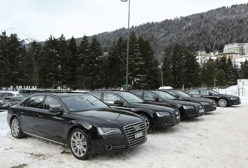 A fleet of Audi A8 Quattro's produced by Audi AG and used as VIP transport during the World E
