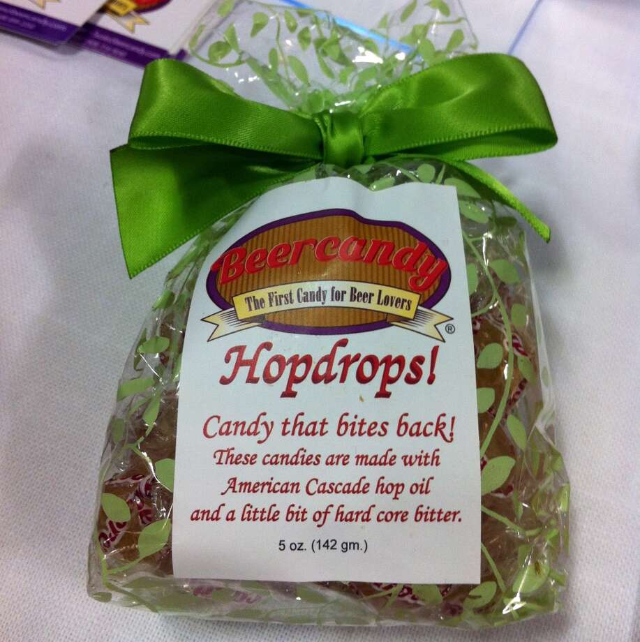 Speaking of which: Hop candy, billed as the first candy for beer lovers, because beer lovers are noted haters of Skittles. These come complete with hard core bitterness.