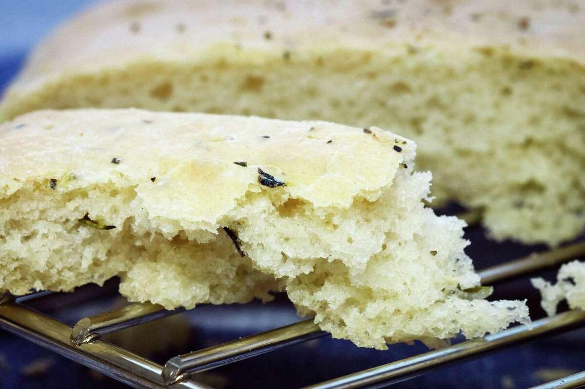 K2K. Focaccia bread, Tuesday, Jan. 15, 2013, in Houston. ( Michael Paulsen / Houston Chronicle )